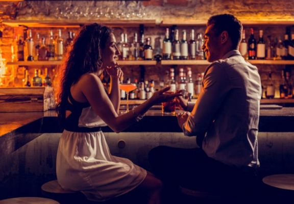Singles Flirting at Bar on Gold Coast